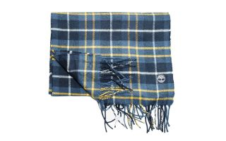 Timberland PLAID SCARF BLUE GOLDEN