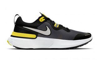 Nike REACT MILER SCHWARZ GELB NICW1777 009