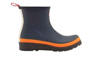 Hunter STIEFEL PLAY SHORT BLAU ORANGE DAMEN WFS2082RMA NCG