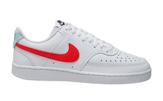 Nike COURT VISION LOW WHITE RED WOMEN