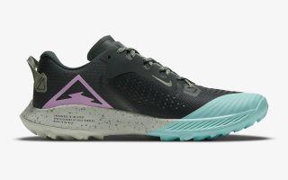 Nike AIR ZOOM TERRA KIGER 6 NEGRO VERDE MUJER CJ0220 300
