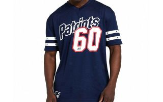 New Era T-SHIRT NEW ENGLAND PATRIOTS MESH BLU NAVY