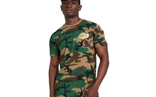 New Era T-SHIRT LOS ANGELES LAKERS CAMO