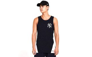 New Era TANK TOP NY YANKEES ALL OVER PRINT TAPED PANEL NAVY