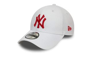 NEW ERA CAP NEW YORK YANKEES ESSENTIAL 9FORTY WHITE RED