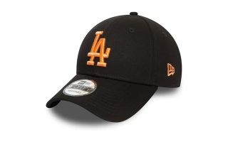 NEW ERA GORRA LA DODGERS LEAGUE ESSENTIAL 9FORTY NEGRO CORAL MUJER