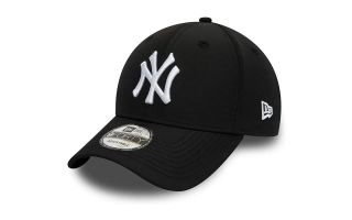 New Era CAP NY YANKEES TECH FABRIC 9FORTY BLACK WHITE