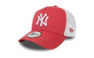 NEW ERA CAP NEW YORK YANKEES ESSENTIAL TRUCKER CORAL