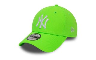 <center><b>New Era</b><br > <em>CAP NEW YORK YANKEES 9FORTY NEON GREEN WHITE</em>