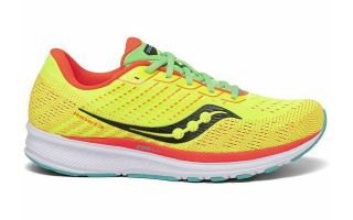 Saucony RIDE 13 LIME CORAIL JUNIOR SK263232