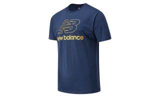 NEW BALANCE T-SHIRT ATHLETICS PODIUM NAVY BLUE