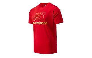 NEW BALANCE T-SHIRT ATHLETICS PODIUM ROSSO