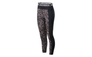 New Balance LEGGINGS RELENTLESS PRINTED HIGH RISE BLACK WHITE WOMEN