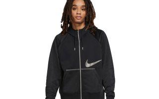 Nike SUDADERA SPORTSWEAR ICON CLASH NEGRO MUJER