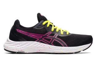 ASICS GEL-EXCITE 8 NEGRO ROSA MUJER 1012A916 006