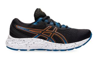 Asics GEL-EXCITE 8 GS BLACK ORANGE KIDS