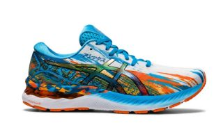 Asics GEL-NIMBUS 23 BLAU ORANGE 1011B153 400
