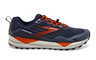 Brooks CASCADIA 15 BLEU ORANGE 1103401D418