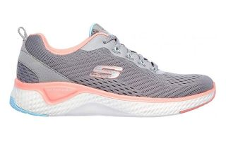 Skechers SOLAR FUSE - COSMIC VIEW GRIS ROSE FEMME 149051GYPK