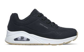 Skechers UNO - STAND ON AIR NEGRO BLANCO MUJER 73690BLK