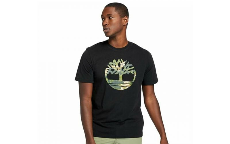 T-SHIRT KENNEBEC RIVER BRAND TREE BLACK