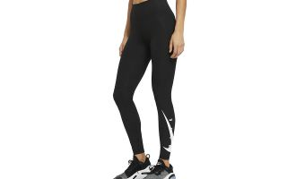 Nike LEGGINGS SWOOSH RUN BLACK FOR WOMEN