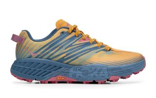 Hoka SPEEDGOAT 4 ORANGE BLUE WOMEN 1106527 SPNB