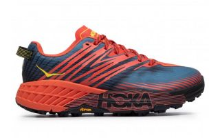 Hoka SPEEDGOAT 4 WIDE BLUE RED 1106528 FPBL