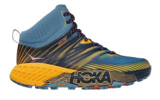 Hoka SPEEDGOAT MID 2 GTX BLUE ORANGE WOMEN