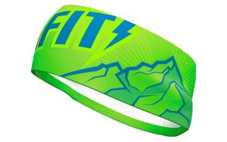 DYNAFIT HAIR BAND PERFORMANCE GRAPHIC LIME GREEN