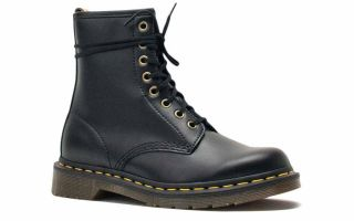 Dr martens 1460 8-EYE VEGANA BLACK WOMEN