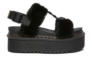 DR MARTENS SANDALS FRANCIS FLUFFY BLACK