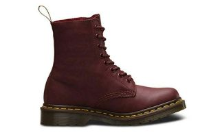 DR MARTENS BOOTS 1460 PASCAL 8-EYE RED WOMEN