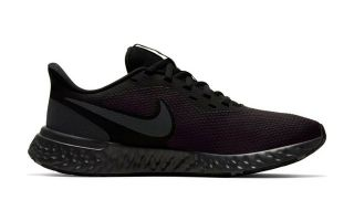 Nike REVOLUTION 5 BLACK GREY WOMEN BQ3207 001