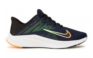 Nike QUEST 3 NEGRO NARANJA CD0230 404