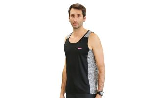 Runaway Jim GREY BLACK BOOM TANK TOP
