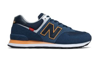 NEW BALANCE CLASSIC 574V2 BLEU ORANGE ML574SY2