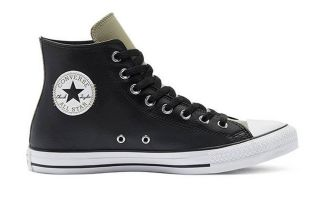 Converse DIGITAL TERRAIN FAUX LEATHER CHUCK TAYLOR ALL STAR HI TOP BLACK