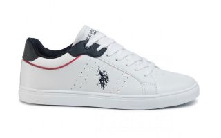 US POLO ASSN CURT WHITE NAVY BLUE CURTY