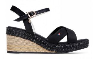 US POLO ASSN SANDALI AGATA179 CANVAS NERO
