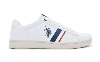 US POLO ASSN ALCOR WHITE RED