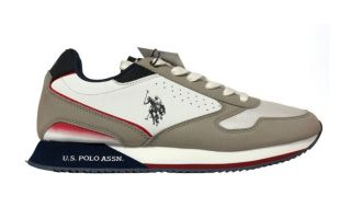 US POLO ASSN NOBIL183 WHITE GREY NOBIL183-OFF-LIGR