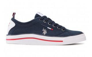 US POLO ASSN WAVE150 CANVAS BLU NAVY CANVAS-DKBL