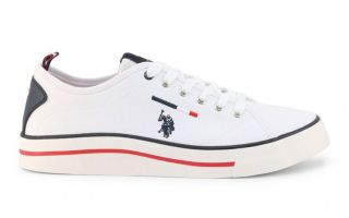 US POLO ASSN WAVE150 CANVAS BIANCO CANVAS-WHI