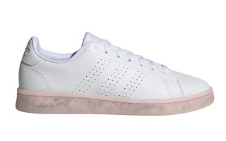 <center><b>adidas</b><br > <em>ADVANTAGE ECO WHITE WOMEN</em>