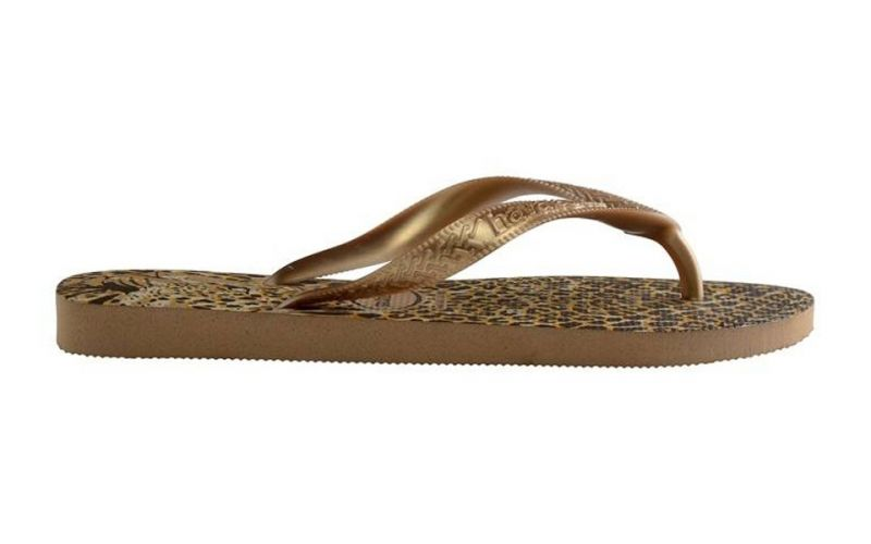 TONGS TOP ANIMAUX DORE
