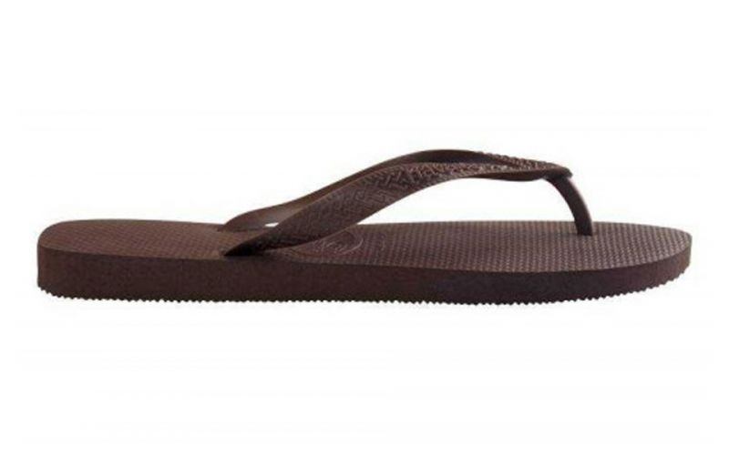CHANCLAS TOP MARR�N OSCURO