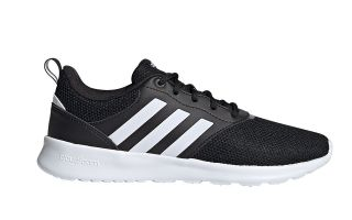 adidas QT RACER 2.0 BLACK WHITE WOMEN