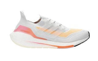 adidas ULTRABOOST 21 WHITE ORANGE WOMEN