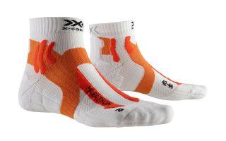 X-Socks CALCETIN RUN MARATHON BLANCO NARANJA